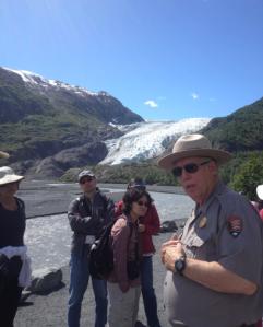 Ranger at glacier